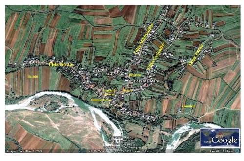 Bozanta, harta satului